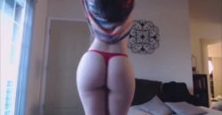 Latina Striptease Ass Shake